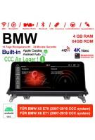 "10.25"" Qualcomm Snapdragon 625 2.0 GHZ Android 10.0 4G LTE Autoradio/Multimedia USB WiFi Navi Carplay Für X5 E70 BMW X6 E71 CCC"