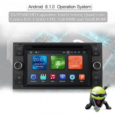 2 Din Android 8.1 Quad-core 2GB RAM 16GB  flash AutoRadio für Ford Transit(2004-2008) Farbe Grau