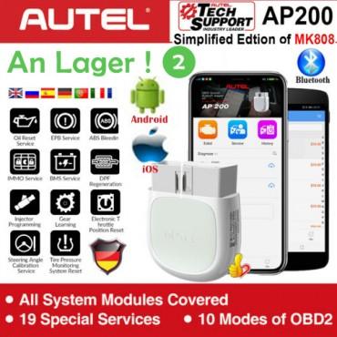 Autel AP200 Bluetooth Adapter OBD2 Scanner Code Reader Volle Systeme OBD2 Diagnose Werkzeug AutoVIN TPMS IMMO Service