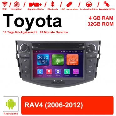 7 Zoll Android 9.0 Autoradio / Multimedia 4GB RAM 32GB ROM Für Toyota RAV4 Mit WiFi NAVI Bluetooth USB