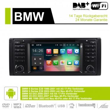 7'' Android 9.0 2GB+16GB 1024*600 HD Capacitive Touch Screen Autoradio Für BMW E39 mit GPS Bluetooth WiFi DVD