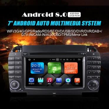 2din Android 8.0 Octa-core 4GB RAM 32GB ROM Autoradio / Multimedia Für Benz W220 W215