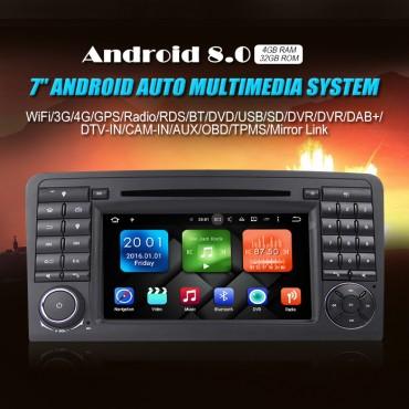 2din Android 8.0 Octa-core 4GB RAM 32GB Car DVD Für Benz W164 X164