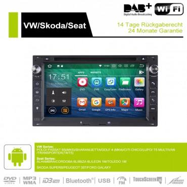 7 Zoll Android 9.0 Autoradio/Multimedia 4GB RAM 32GB ROM Für VW Glof Bora Passat Mk5 Golf Polo Jetta Seat Peugeot 307