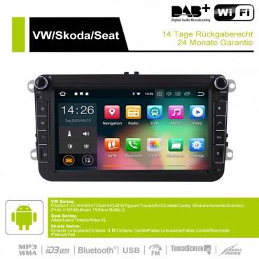 8 Zoll Android 9.0 Autoradio / Multimedia 4GB RAM 32GB ROM Für VW Passat CC Polo GOLF 5 6 Touran EOS T5 Sharan Jetta Tiguan