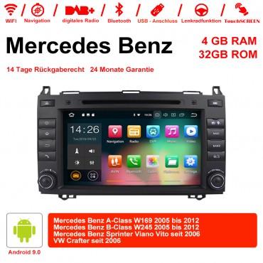 8 Zoll  Android 9.0  Autoradio / Multimedia 4GB RAM 32GB ROM Für Mercedes BENZ A Klasse W169, B Klasse W245, Sprinter Viano Vito und VW Crafter