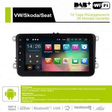 8 Zoll Android 9.0 Autoradio/Multimedia 4GB RAM 32GB ROM Für VW Golf 5 Polo Jetta Tiguan Passat B6 5 CC Skoda Touran