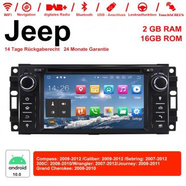 6.2 Zoll Android 10.0 Autoradio/Multimedia 2GB RAM 16GB ROM Für Jeep Wrangler Compass Caliber Sebring 300C Grand Cherokee Journey