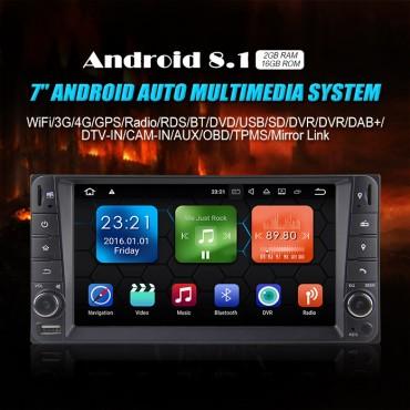 Android 8.1 Quad-core 2GB RAM 16GB  flash Autoradio Player Radio für Toyota Corolla
