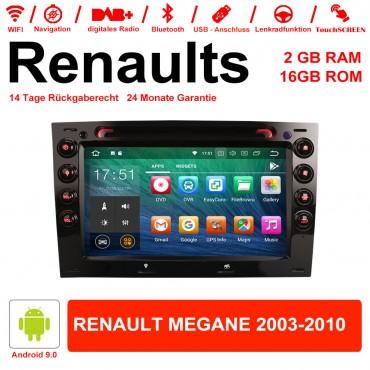 7 Zoll Android 9.0 Autoradio/Multimedia 2GB RAM 16GB ROM Für Renaults Megane