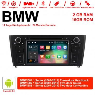 7 Zoll Android 9.0 Autoradio/Multimedia 2GB RAM 16GB  ROM Für BMW E81 E82 E88