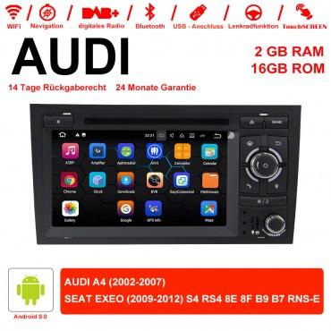 7 Zoll Android 9.0 Autoradio / Multimedia 2GB RAM 16GB ROM für Audi A4 ,SEAT EXEO S4 RS4 8E 8F B9 B7 RNS-E