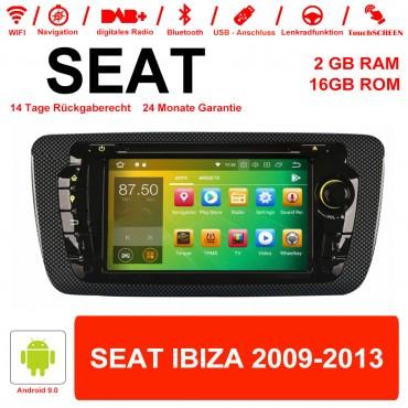 7 Zoll Android 9.0 Autoradio / Multimedia 2GB RAM 16GB ROM Für SEAT IBIZA 2009-2013