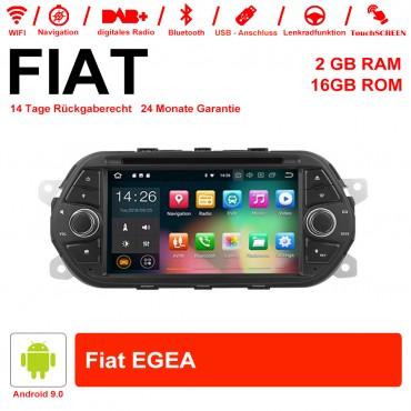 7 Zoll Android 9.0 Autoradio/Multimedia 2GB RAM 16GB ROM Für Fiat EGEA