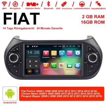7 Zoll Android 9.0 Autoradio/Multimedia 2GB RAM 16GB ROM Für Fiat Fiorino, Citroen Nemo, Peugeot Bipper