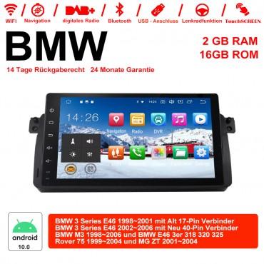 9 Zoll Android 10.0 Autoradio/Multimedia 2GB RAM 16GB ROM Für BWM 3Series M3 75 E46 3er MG ZT