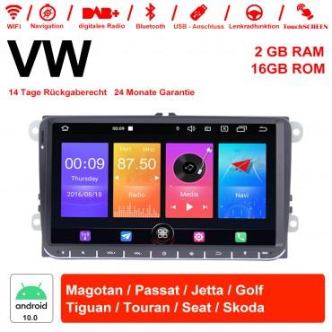 9 Zoll Android 10.0 Autoradio / Multimedia 2GB RAM 16GB ROM Für VW Magotan,Passat,Jetta,Golf,Tiguan,Touran,Seat,Skoda Mit WiFi NAVI Bluetooth USB