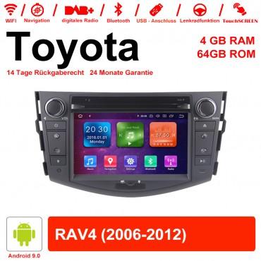7 Zoll Android 9.0 Autoradio / Multimedia 4GB RAM 64GB ROM Für Toyota RAV4 Mit WiFi NAVI Bluetooth USB
