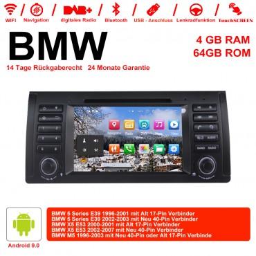 7 Zoll Android 9.0  Autoradio / Multimedia 4GB RAM 64GB ROM  Für BMW E53 E39 X5 M5