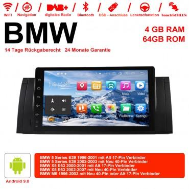 9 Zoll Android 9.0 Autoradio / Multimedia 4GB RAM 64GB ROM Für BMW X5 E53 M5 E39