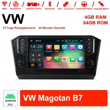 9 Zoll Android 10.0 Autoradio / Multimedia 4GB RAM 64GB ROM Für VW Magotan B7