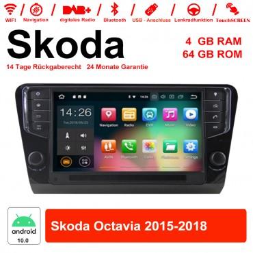 9 Zoll Android 10.0 Autoradio / Multimedia 4GB RAM 64GB ROM Für Skoda Octavia Mit NAVI, WIFI, Bluetooth...