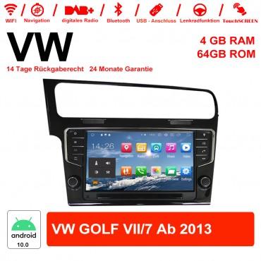 9 Zoll Android 10.0 Autoradio / Multimedia 4GB RAM 64GB ROM Für VW GOLF VII/7 ab 2013 Mit NAVI, WIFI, Bluetooth...