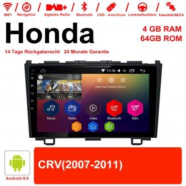 9 Zoll Android 9.0 Autoradio / Multimedia 4GB RAM 64GB ROM Für Honda CRV Mit WiFi NAVI Bluetooth USB