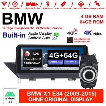 10.25 Zoll Android 10.0 4G LTE Autoradio / Multimedia WiFi NAVI USB GPS CarPlay Android Auto Für BMW X1 E84