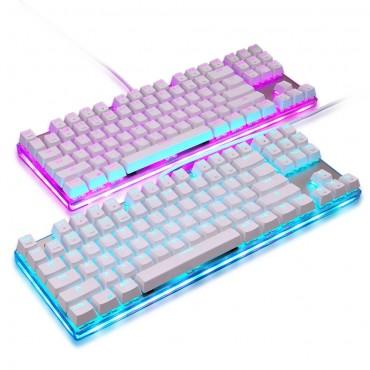 Motospeed K87S USB Verdrahtete Mechanische Tastatur Gamer Tastatur mit RGB Hintergrundbeleuchtung 87 Tasten