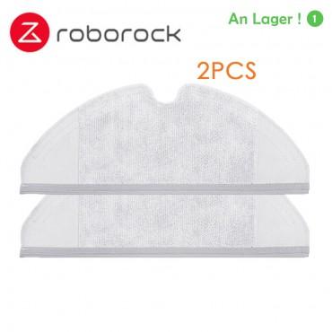 2 Stücke Original Roborock S50 S51 Teile Mopp Tücher für Xiaomi Staubsauger Generation 2 Trocken Nass Wischen Reinigung