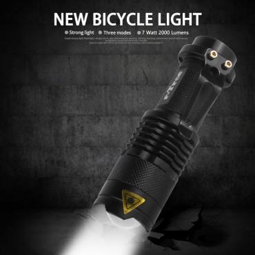 Fahrrad Licht 7W 2000 Lumen 3 Modus LED Fahrrad Scheinwerfer wasserdicht ZOOM Taschenlampe BL0502