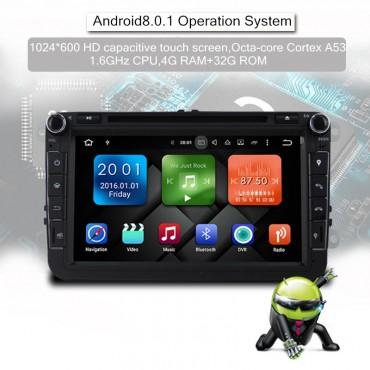 2 din Android 8.0 Octa-core 4 GB RAM 32GB Auto DVD für VW Passat CC Polo GOLF 5 6 Touran EOS T5 Sharan Jetta Tiguan GPS Radio bt