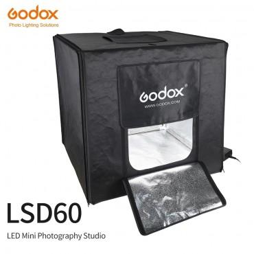 Godox LSD60 60*60 cm 40 watt LED Foto Studio Softbox Licht Zelt SoftBox + AC Adapter + PVC hintergründe für Telefon DSLR Schießen Produkt