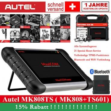 Autel MK808TS Diagnosegerät mit vollständige obd2 Funktionen, Android Diagnose Pad mit Reset bei  Öl/EPB/BMS/SAS/DPF/IMMO und der komplette TPMS-Service fürHeimwerker, Werkstatt und Reparaturbetriebe