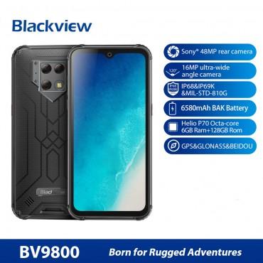 "Blackview BV9800 6 GB 128 GB IP68 Smartphone 6,3 ""FHD-Wassertropfen Helio P70 Octa Core Android 9.0 NFC Handy 6580 mAh"