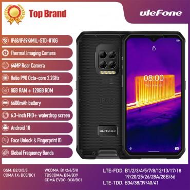 Ulefone Armor 9 Thermokamera Robustes Telefon Android 10 Helio P90 Octa-Core 8 GB + 128 GB Mobiltelefon 6600 mAh 64 MP Kamera Smartphone