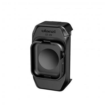 ulanzi ST-09 Smartphone Halterung Klemme mit kalter Schuhhalterung Kompatibel mit Apple Watch Series 5 iPhone 11/11 Pro / 11 Pro Max / XS / XS Max / XR / X / 8/8 Plus Vlog Selfie-Zubehör