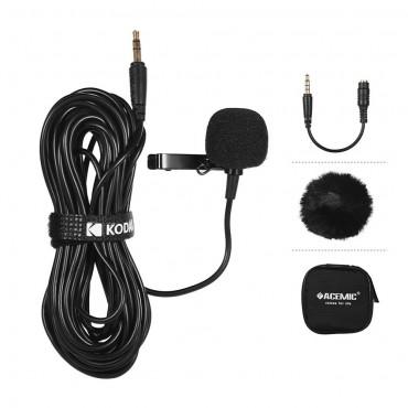 ACEMIC Einkopf-Lavaliermikrofon Mikrofonaufsteck-Aufsteckkondensator