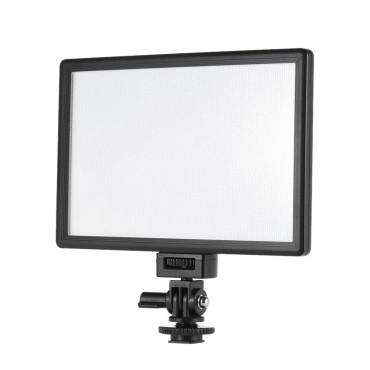 VILTROX L116T Profi ultra-dünnen LED-Videoleuchte Fotografie Aufhellen justierbare Helligkeit und Dual Color Temp. Max Helligkeit 987LM 3300K-5600K CRI95 + für Canon Nikon Sony Panasonic DSLR Kamera und Camcorder