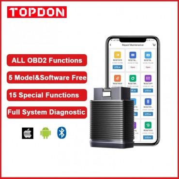 Topdon SmartDiag Mini OBD2 Bluetooth Scanner Automotive OBD2 Auto Diagnose Tool TPMS SRS Immo Key Code Reader PK Thinkcar Autel