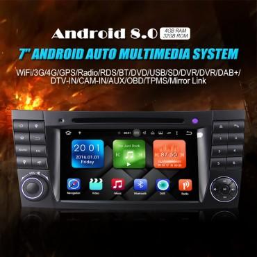 2din Android 8.0 Octa-core 4 GB RAM 32GB ROM Autoradio / Multimedia Für E-Class W211,CLS Class W219,G-Class W463