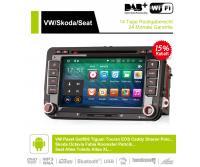 2 Din Android 9.0 Octa-Core 4GB RAM 32GB Autoradio / Multimedia Für VW GOLF JETTA POLO TOURAM PASSAT B6 mit GPS stereo radio usb WIFI