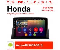 10.1 Zoll Android 9.0 Autoradio / Multimedia 4GB RAM 64GB ROM Für Honda Accord8 Mit WiFi NAVI Bluetooth USB