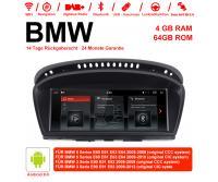 10.25 Zoll Android 9.0 Autoradio / Multimedia 4GB RAM 64GB ROM Für BMW 5 Series E60 E61 E63 E64 BMW 3 Serie E90 E91 E92 CCC /CIC Mit WiFi NAVI Bluetooth USB