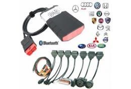 OBD 2 KFZ Profi Diagnosegerät Delphi für PKW, und LKW mit Bluetooth + 8 Kabel